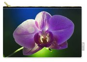 Orchid Flower On Black Background Carry-all Pouch