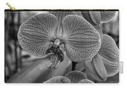 Orchid Glory Black And White Carry-all Pouch
