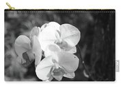 Orchid In Black And White Carry-all Pouch