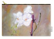 Orchid In White 3 Carry-all Pouch