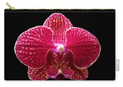 Orchid On Black 2 Carry-all Pouch