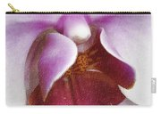 Orchid Portrait In Craquelure Carry-all Pouch