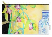 Orchids And Blue Vase Carry-all Pouch