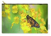 Orchids And Butterfly Painting Carry-all Pouch