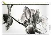 Orchids In Black Carry-all Pouch