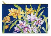 Orchids In Blue Carry-all Pouch