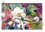 Orchids In White Carry-all Pouch