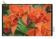 Orchids Vertical Triptych Carry-all Pouch