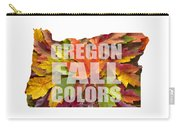 Oregon Maple Leaves Mixed Fall Colors Text Carry-all Pouch