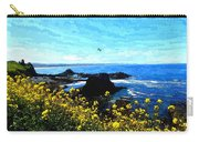 Oregon Wild Flowers Water Color Carry-all Pouch