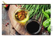 Organic Vegetables And Spices Carry-all Pouch