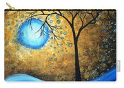 Orginal Abstract Landscape Painting Blue Fire By Madart Carry-all Pouch