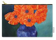 Oriental Poppies In Blue Carry-all Pouch