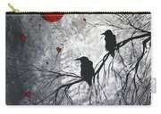 Original Abstract Surreal Raven Red Blood Moon Painting The Overseers By Madart Carry-all Pouch