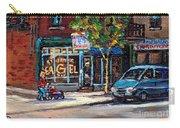 Original Art For Sale Montreal Petits Formats A Vendre Boulangerie St.viateur Bagel Paintings  Carry-all Pouch