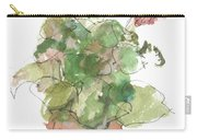 Original Buspaintings Geranium Watercolor Painting By Kathleen Mcelwaine Carry-all Pouch