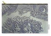 Original Linoleum Block Print Carry-all Pouch