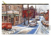 Original Montreal Paintings For Sale Tableaux De Montreal A Vendre Pointe St Charles Scenes Carry-all Pouch