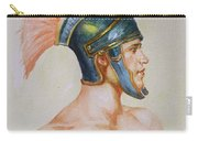 Original Watercolour Painting Art Male Nude Portrait Of General  On Paper #16-3-4-19 Carry-all Pouch