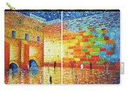 Original Western Wall Jerusalem Wailing Wall Acrylic 2 Panels Carry-all Pouch