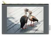 Orinoco Geese Touching Heads On A Boardwalk Carry-all Pouch
