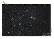 Orions Belt, Horsehead Nebula And Flame Carry-all Pouch by Luis Argerich