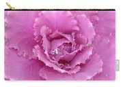 Ornamental Cabbage With Raindrops - Square Carry-all Pouch