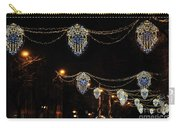 Ornamental Design Christmas Light Decoration In Madrid, Spain Carry-all Pouch