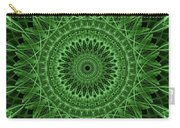Ornamented Mandala In Green Tones Carry-all Pouch