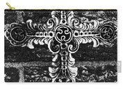 Ornate Cross 3 Bw Carry-all Pouch