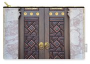 Ornately Decorated Wood And Brass Inlay Door Of Sarajevo Mosque Bosnia Hercegovina Carry-all Pouch
