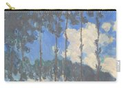 Oscar Monet   Poplars On The Epte Carry-all Pouch