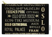 Oslo Famous Landmarks Carry-all Pouch