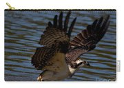 Osprey Catching A Fish Carry-all Pouch