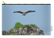 Osprey Flying Over A Bird's Nest Carry-all Pouch