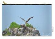 Osprey Landing On A Nest Carry-all Pouch