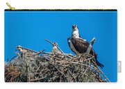 Osprey With Chicks Carry-all Pouch