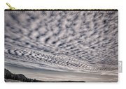 Otter Cliffs Dawn - Black And White Carry-all Pouch