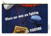Our Food Is Fighting - Ww2 Carry-all Pouch