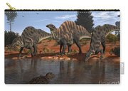 Ouranosaurus Drink At A Watering Hole Carry-all Pouch