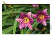 Purple Stella Doro Day Lily Carry-all Pouch