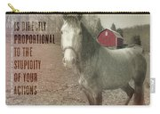 Out To Pasture Quote Carry-all Pouch