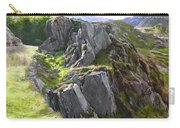 Outcrop In Snowdonia Carry-all Pouch