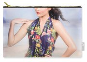 Outdoor Fashion Portrait. Spring Twilight Beauty Carry-all Pouch