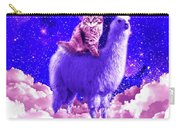 Outer Space Galaxy Kitty Cat Riding On Llama Carry-all Pouch