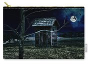 Outhouse In The Moonlight With Flying Crows Carry-all Pouch