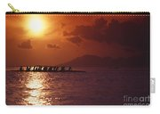 Outrigger Canoe At Sunset Carry-all Pouch