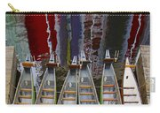 Outrigger Canoe Boats And Water Reflection Carry-all Pouch by Ben and Raisa Gertsberg