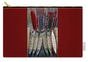 Outrigger Canoe Boats And Water Reflection Carry-all Pouch