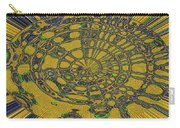 Oval Abstract Maple Leaf  Carry-all Pouch